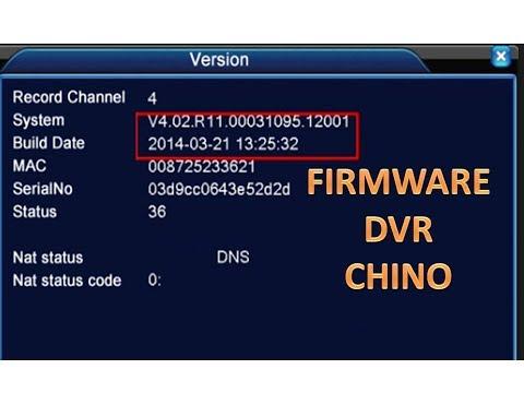 Descarga FIRMWARE DVR CHINO