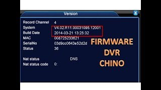 Descarga FIRMWARE DVR CHINO
