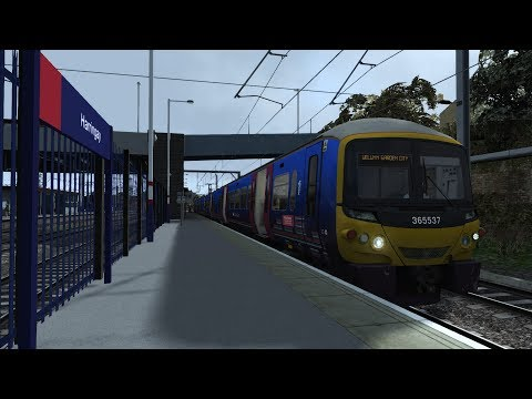 Train Simulator 2017   Welwyn Garden City Down Slow from London   No commentary