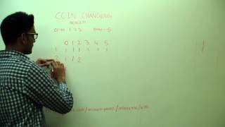 Coin Changing Number of ways to get total dynamic programming