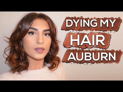 DYING MY HAIR AUBURN!