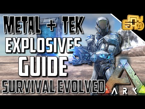 ARK PVP TIPS - A HANDY GUIDE TO EXPLOSIVES (TEK AND METAL TESTING)