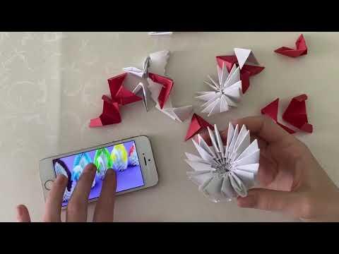 Сборка лебедя. Модульное оригами