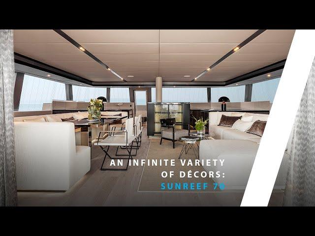 Bespoke interior design of the sailing catamaran Sunreef 70
