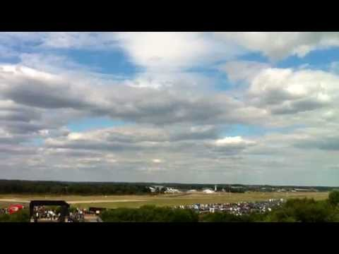 Fighter Jet at Farnborough Air Show - Fierce Noise and Power