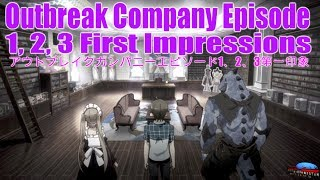 Outbreak Company Episode 01, 02, 03 アウトブレイク・カンパニー Outb...