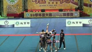 近拍版 2011大專盃啦啦錦標賽 女生5人 屏東科大第2名