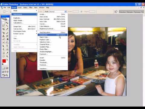 Photoshop CS2 - Phan 22 - Bai 5 - 6 cach chuyen doi anh mau thanh anh trang den