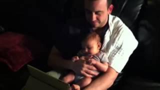 Olivia watches baby Einstein 10 wks old