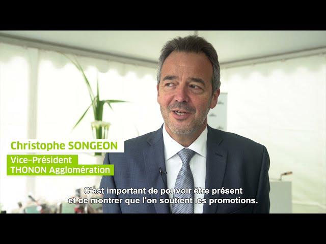 ALILA – 1ère Pierre de LES TERRASSES DE L'ANCION– Mr SONGEON –Vice Président Thonon Agglomération