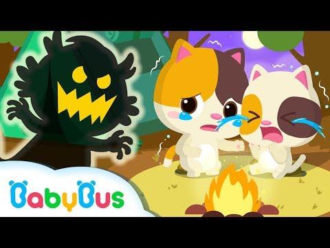 Mèo con Timi sợ ma | Bài hát thiếu nhi | Nhạc thiếu nhi vui nhộn | BabyBus