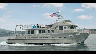 Los Angeles Port Police Patrol Catamaran - aluminum work boat
