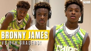 LeBron James Jr. drops dimes on OLDER competition: Full Highlights