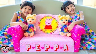 หนูยิ้มหนูแย้ม   โซฟาวิเศษเปปป้าพิก Peppa Pig Toys