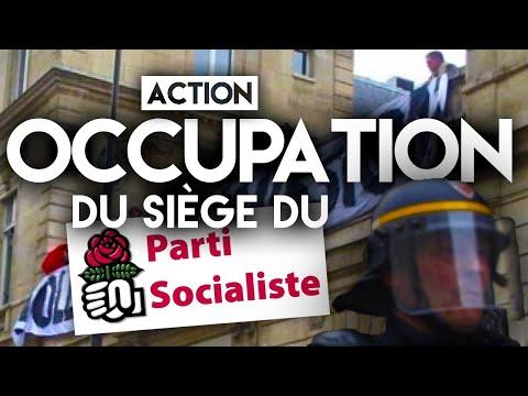 Génération Identitaire occupe le toit du siège du Parti Socialiste (Rue de Solférino - Paris)