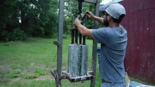 Homemade Paper Log Press