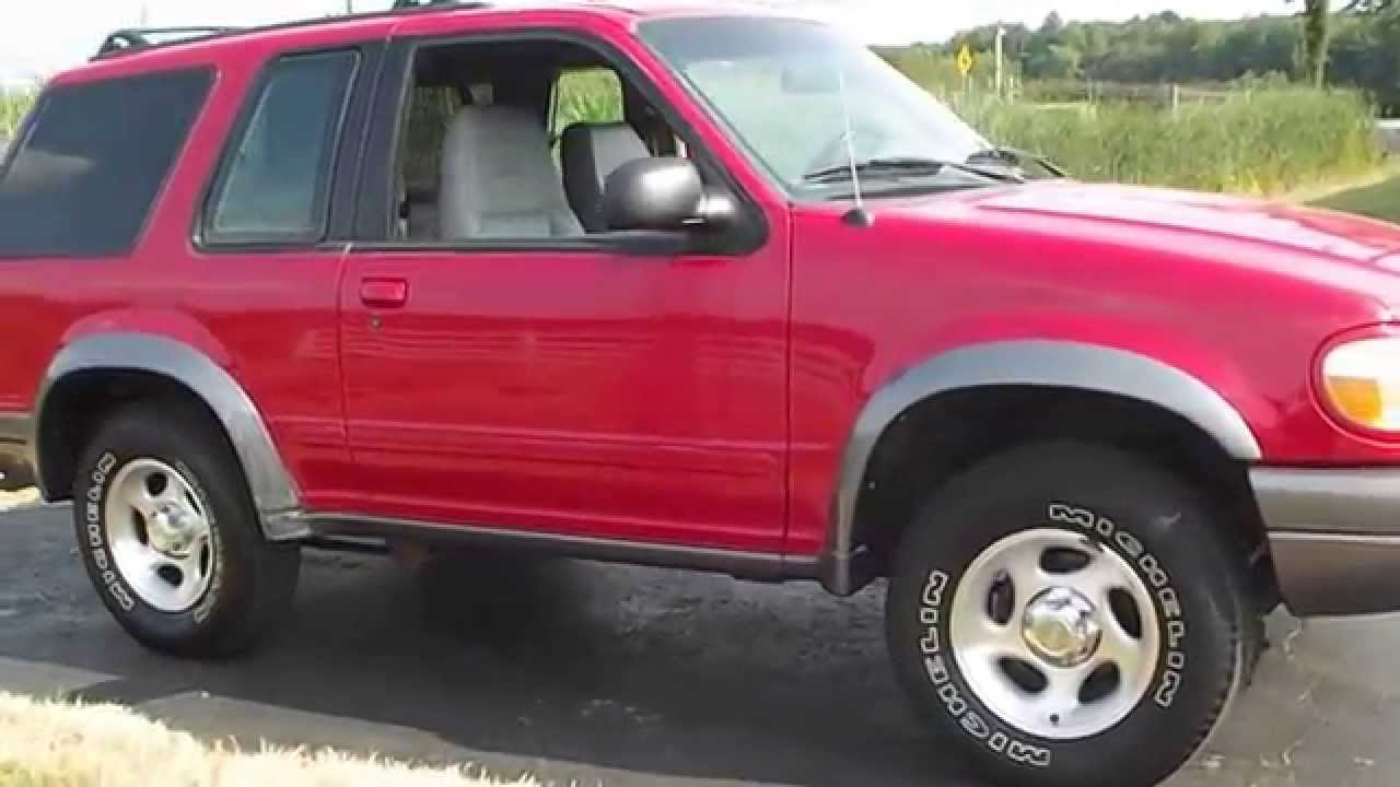 1999 ford explorer sport 4x4 95k mi local 1 owner red youtube