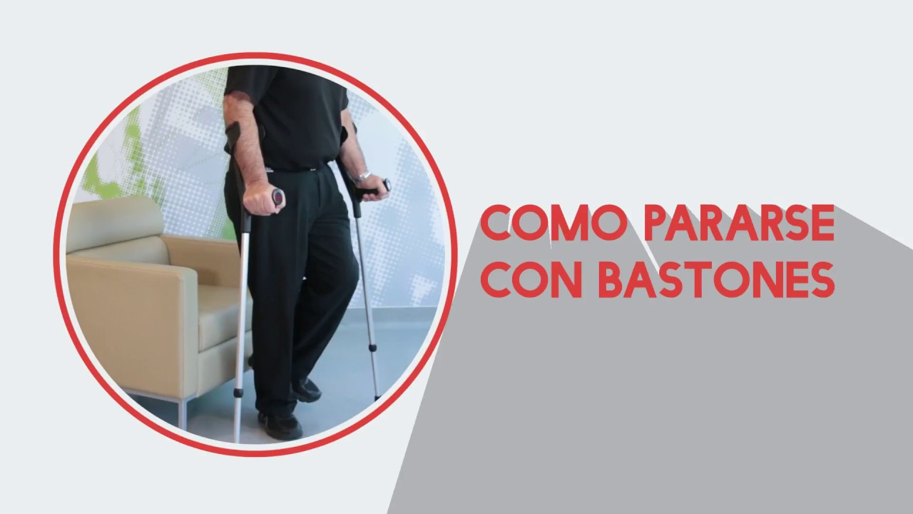 Correcto uso de bastones - Como sentarse, subir y bajar escaleras ...