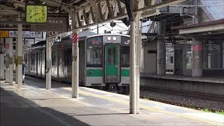 福島駅発車メロディ「高原列車は行く」701系発車風景