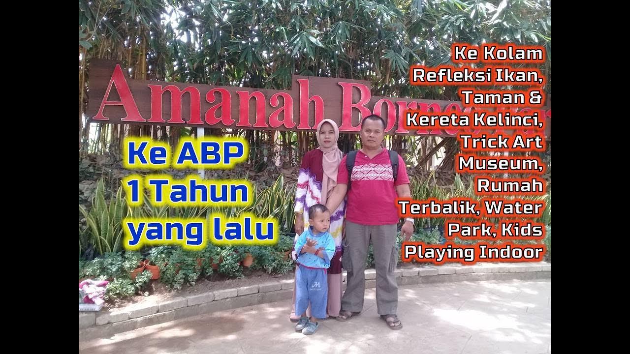 Alhamdulillah, masih sempat Rekreasi bersama Keluarga ke ABP ada Kolam Refleksi Ikan, Kelinci, dll.