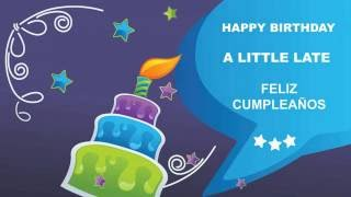 ALittleLate   Card Tarjeta - Happy Birthday