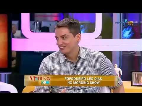 Morning Show: Leo Dias dá pista sobre atriz que ele mais