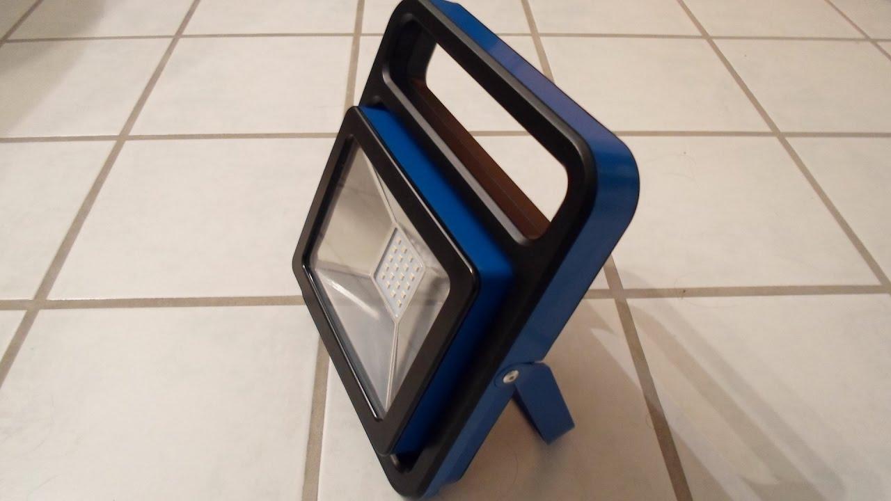 Komplett Neu as-Schwabe Chip LED Strahler Acculine 20W - YouTube UJ55
