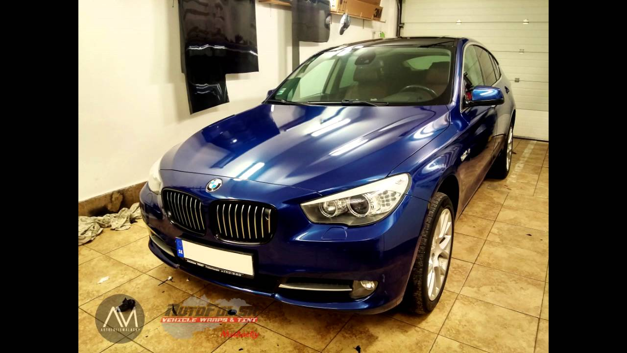 Bmw 550i Gt 3m Blue Metallic Car Wrap Youtube