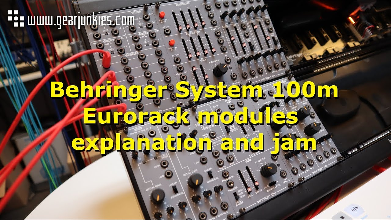 Behringer System 100m Eurorack modules explanation and jam