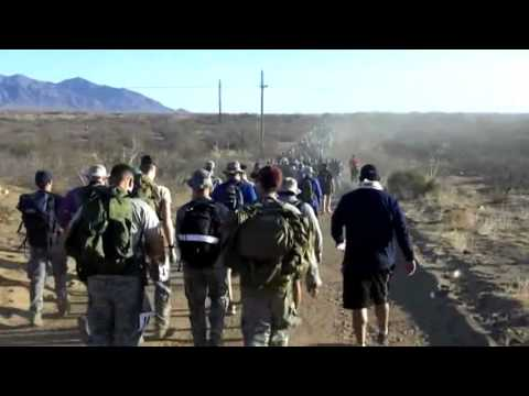 WKU ROTC training for Bataan Memorial Death March