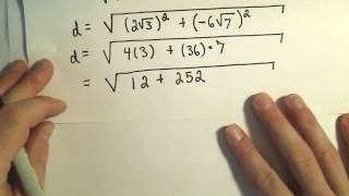 The Distance Formula and Finding the Distance Between Two Points - Example 2