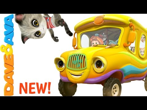 Thumbnail: 🐈 The Wheels on the Bus Song | Nursery Rhymes and Baby Songs from Dave and Ava 🐈