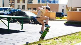 Учимся кататься на СКЕЙТБОРДЕ / Взлеты и падения на скейте