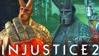 "Epic Demon Hellboy Wants To Destroy! - Injustice 2 ""Hellboy"" Gameplay (Online Ranked)"