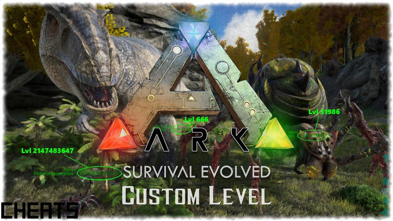 Ark survival evolved custom level dinos hddecheats ark survival evolved custom level dinos hddecheats download der liste aller ids youtube malvernweather Images