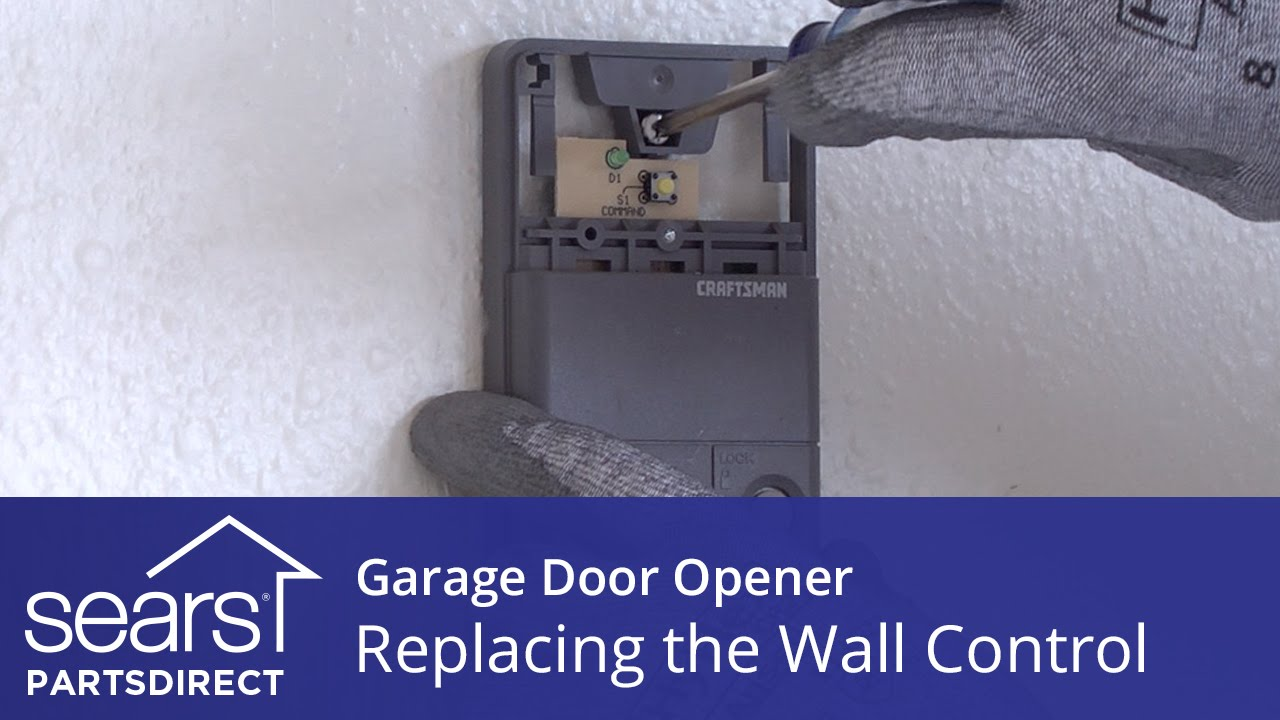 hight resolution of replacing the wall control on a garage door opener