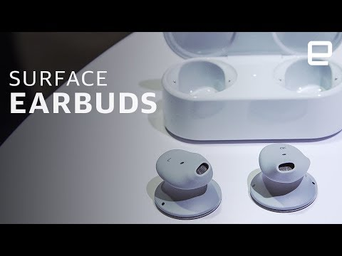 Microsoft Surface Earbuds hands-on: Strange shape, feel great