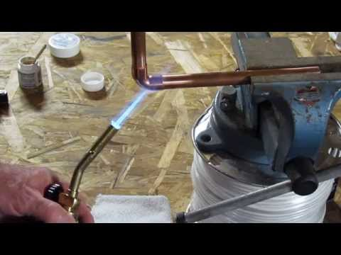 How to solder copper pipe. Tips and tricks! The old plumber shows complete technique. thumbnail