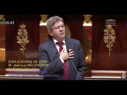 Jean-Luc Mélenchon parle d'amour à la tribune de l'Assemblée nationale...