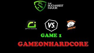 Dota 2-The Bucharest Major Optic vs VP- Live Streaming-Main Event Day 2 [English] Game 1