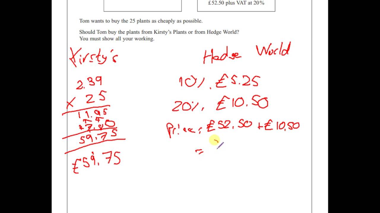 gcse maths 2013