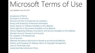 Reading the Microsoft Terms of Use- Pt. 1 Mp3