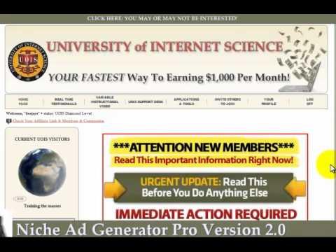 Free Niche Ad Generator & Craigslist Training