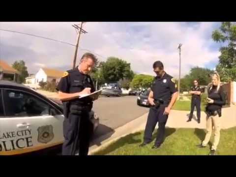 Interaction with Salt Lake City police after officer shot ...