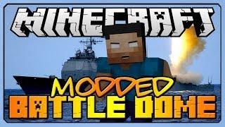 "Minecraft: Modded BATTLEDOME (Archimedes Mod) ""EPIC BATTLESHIP"" w/ Taz & Friends"