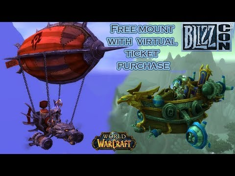 Blizzard gives 2 AWESOME New mounts for the 2017 Blizzcon Virtual Ticket. Amazing Mount Specials