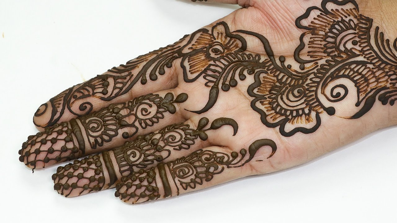 Mehndi Flower Designs Step By Step : Floral pattern easy simple mehndi design for hands step
