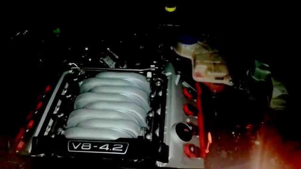Audi S4 B7 Avant 4.2 V8 Kettenrasseln PS Kaltstart 5W30 Generalüberholt - YouTube