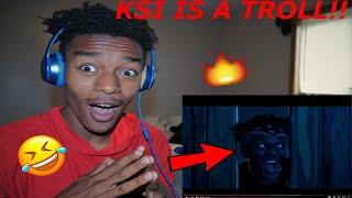 """REACTION   KSI """"ON POINT""""   KSI IS A TROLL!! (Ksi vs logan paul)"""