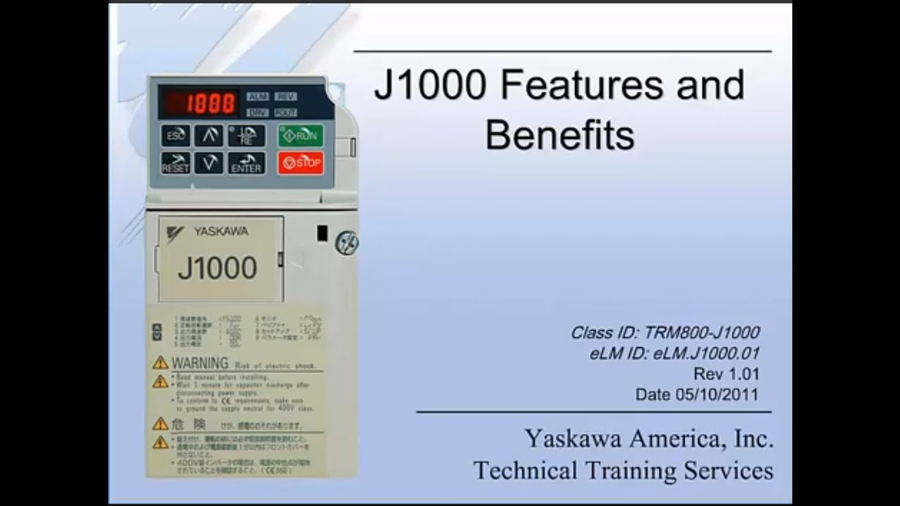 yaskawa j1000 wiring diagram trane thermostat tutorial features and benefits youtube